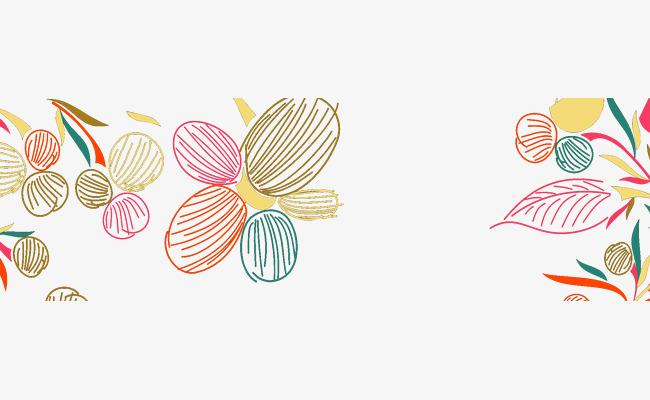 手绘花卉banner