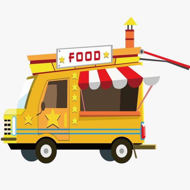 可爱卡通餐车图片