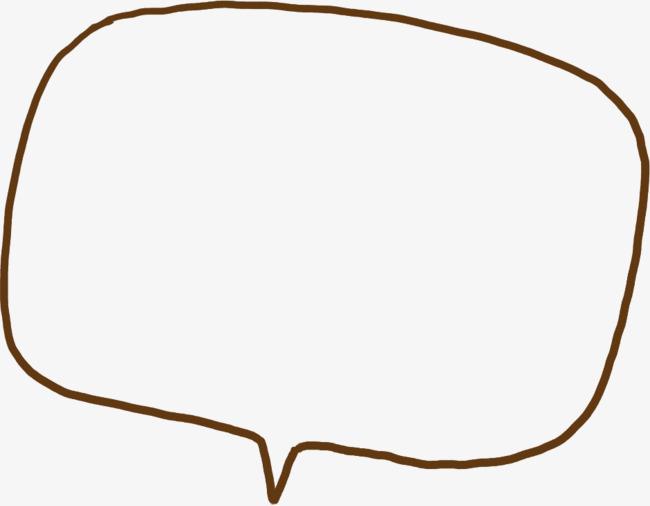 手绘方块线条对话框png素材-90设计