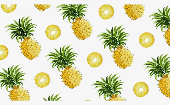 手绘菠萝背景