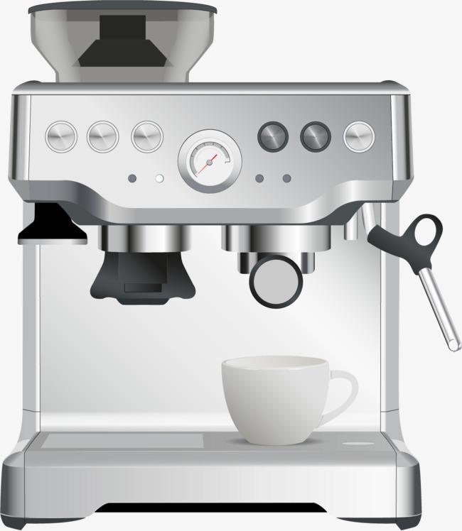 矢量手绘咖啡机