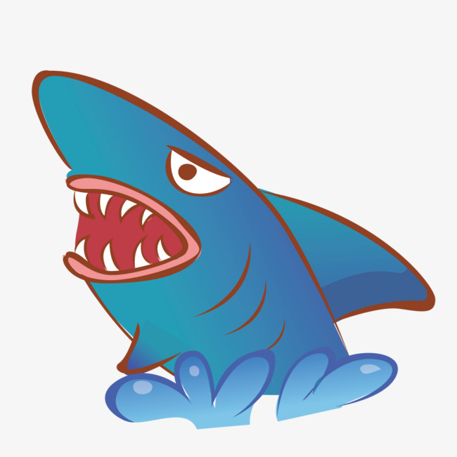 90设计提供高清png手绘动漫素材免费下载,本次跳出海面的鲨鱼作品为