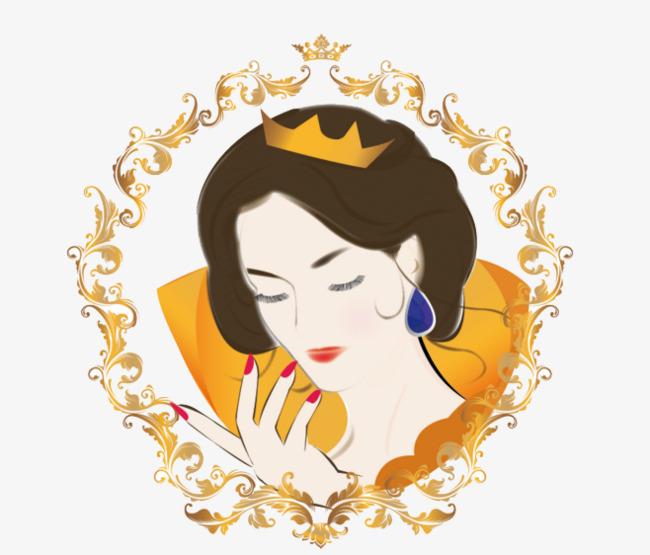 皇室女皇头像手绘