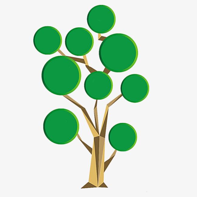绿色树枝ppt装饰图案png素材-90设计