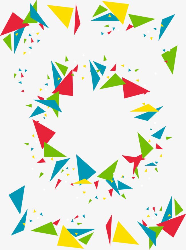 矢量手绘几何图形装饰图案三角形
