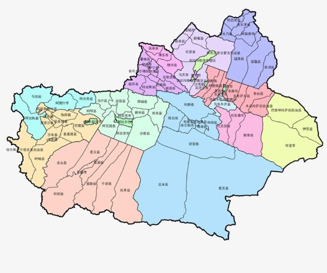新疆地图png素材-90设计