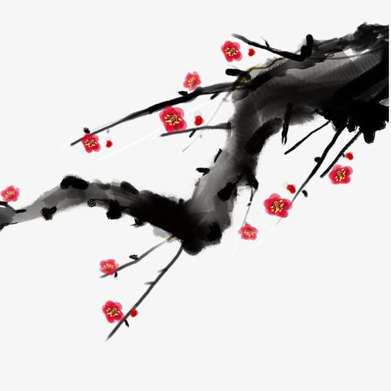 梅花水彩画