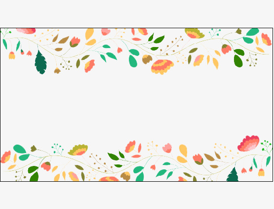 手绘水彩花卉边框