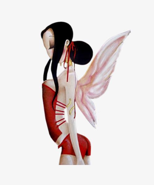 图片 > 【png】 翅膀女孩  分类:手绘动漫 类目:其他 格式:png 体积