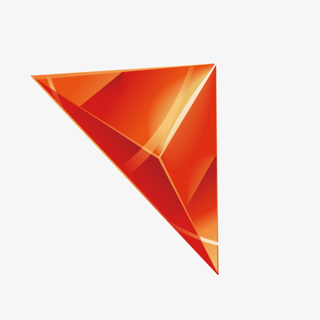 红色渐变立体质感箭头png素材-90设计
