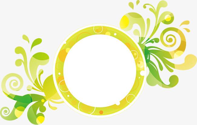 藤蔓和圆形边框