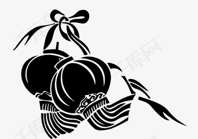 手绘灯笼手绘黑白装饰简笔画-手绘灯笼素材图片免费下载 高清卡通手