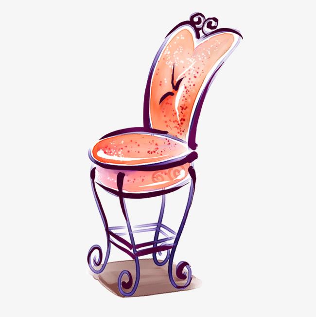水彩手绘椅子