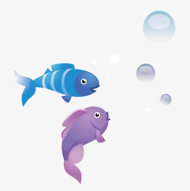 小鱼吐泡泡图片