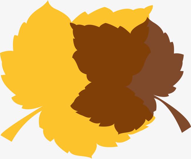 矢量手绘枫叶