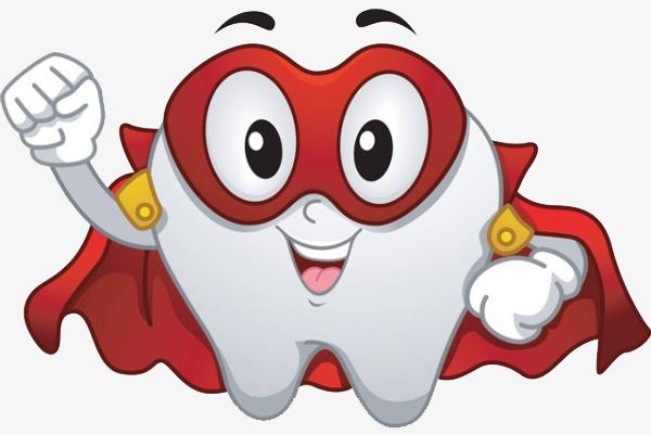 卡通牙齿超人