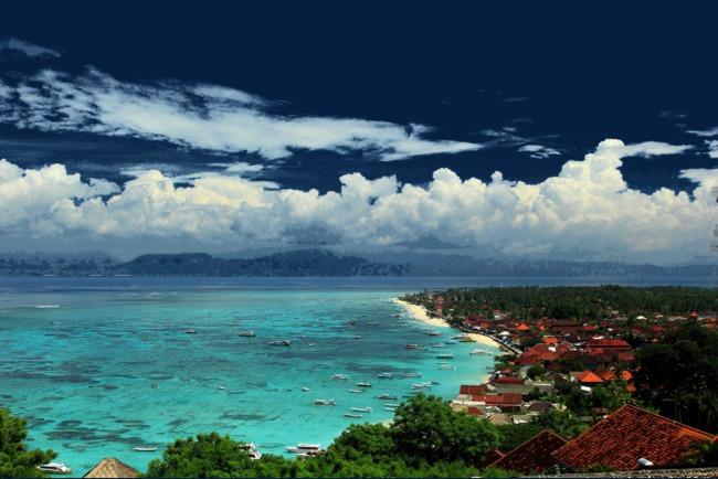 巴厘岛蓝梦岛美景