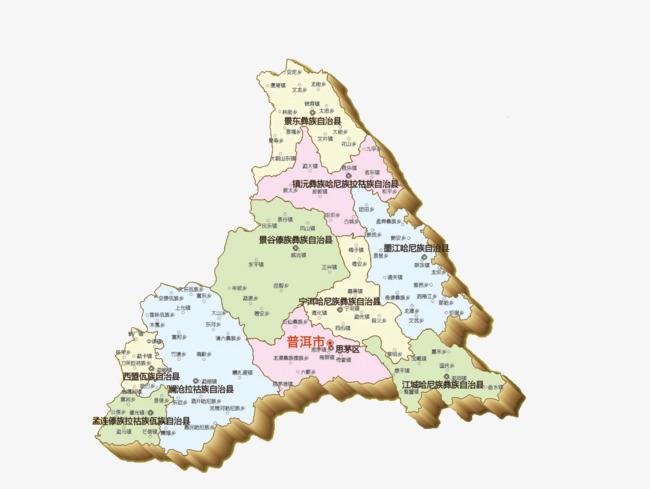 云南普洱地图