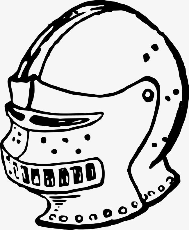 头盔简笔画怎么画