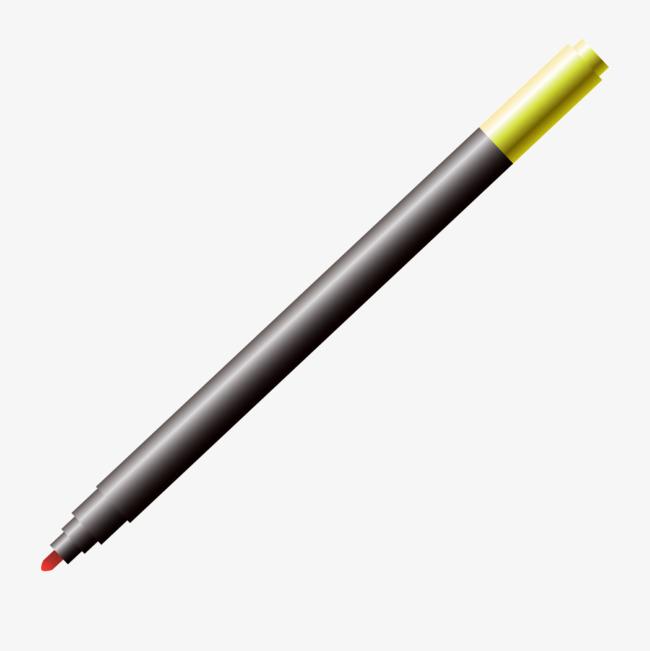 黑色渐变儿童画笔png素材-90设计