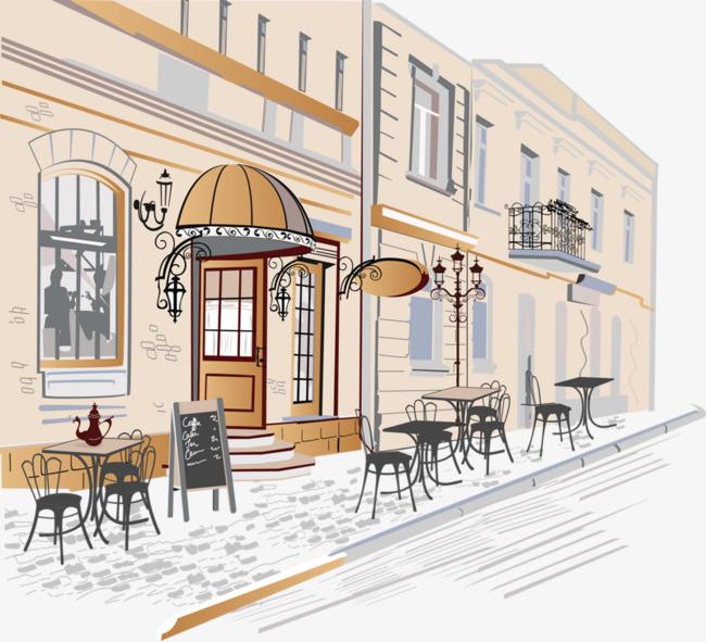 图片 > 【png】 手绘城市街角