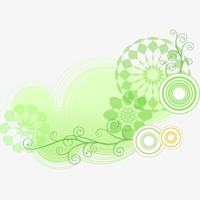 绿色的特效圆环