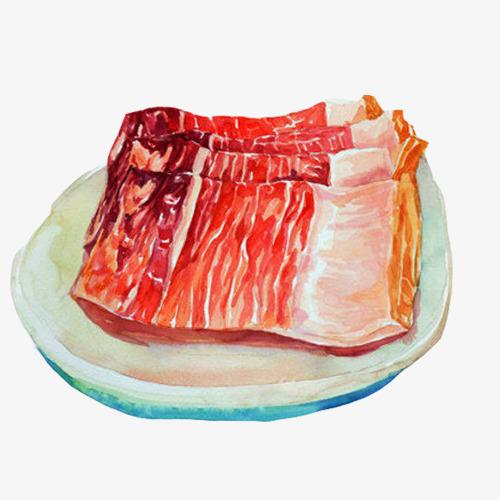 腊肉手绘画素材图片