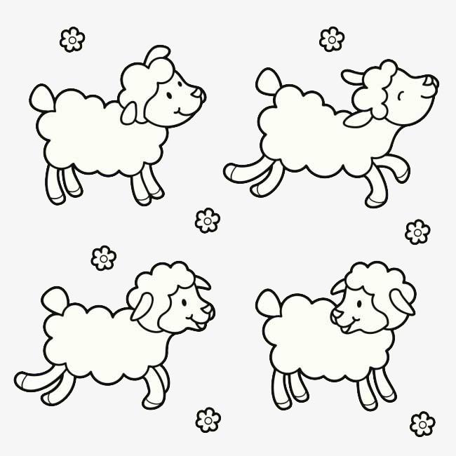 绵羊 图案 可爱 雪花             此素材是90设计网官方设计出品,均