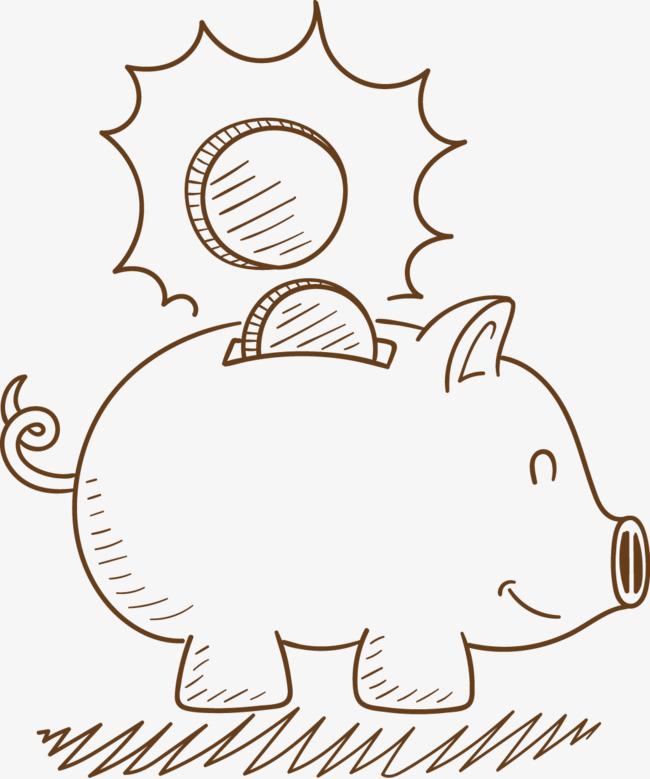 png手绘动漫素材免费下载,本次小猪存钱罐作品为设计师薄荷柠檬茶创作