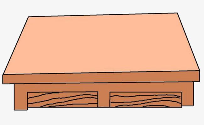 长方形桌子面手绘图