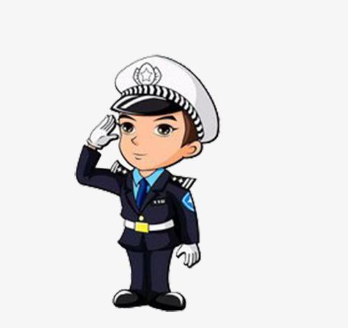 警察交警卡通形象图片