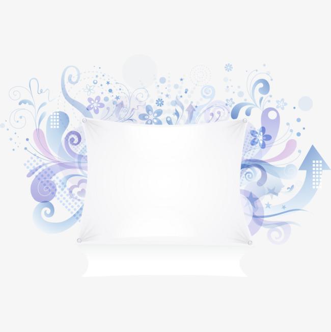蓝色创意留言板png素材-90设计图片