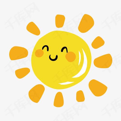 卡通笑脸太阳素材图片免费下载 高清卡通手绘png 千库网 图片编号6743463