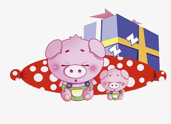 免抠 卡通 睡觉 小猪             此素材是90设计网官方设计出品,均图片