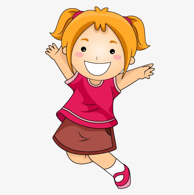 点击右侧免费下载按钮可进行 粉红色高兴女生欢乐png图片素材高速下载