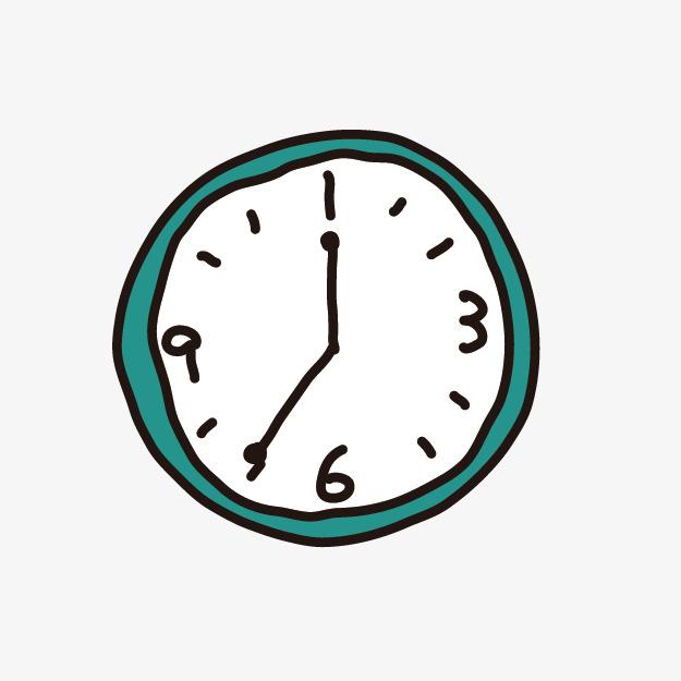 卡通手绘时钟