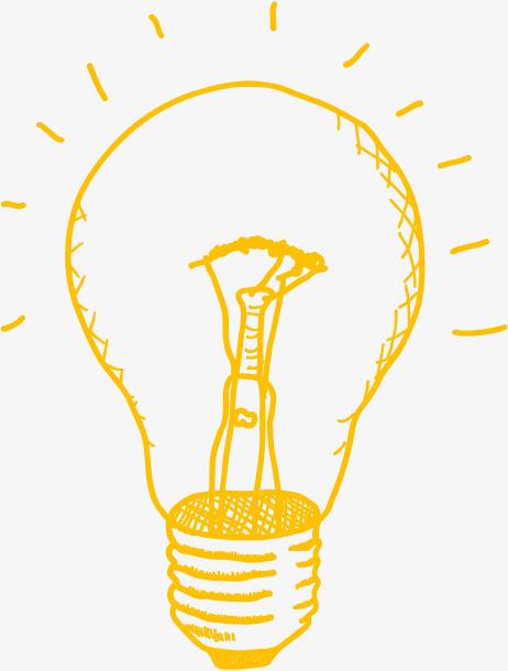 灯泡 简笔 发亮 卡通             此素材是90设计网官方设计出品,均
