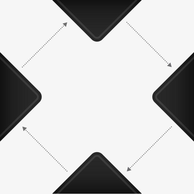 矢量ppt三角箭头png素材-90设计