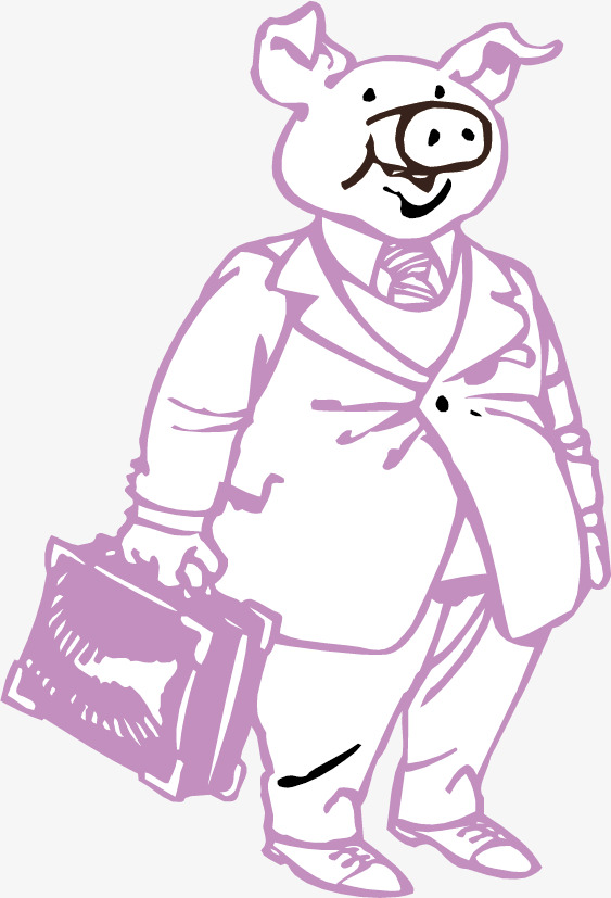 免抠素材手绘猪八戒图片