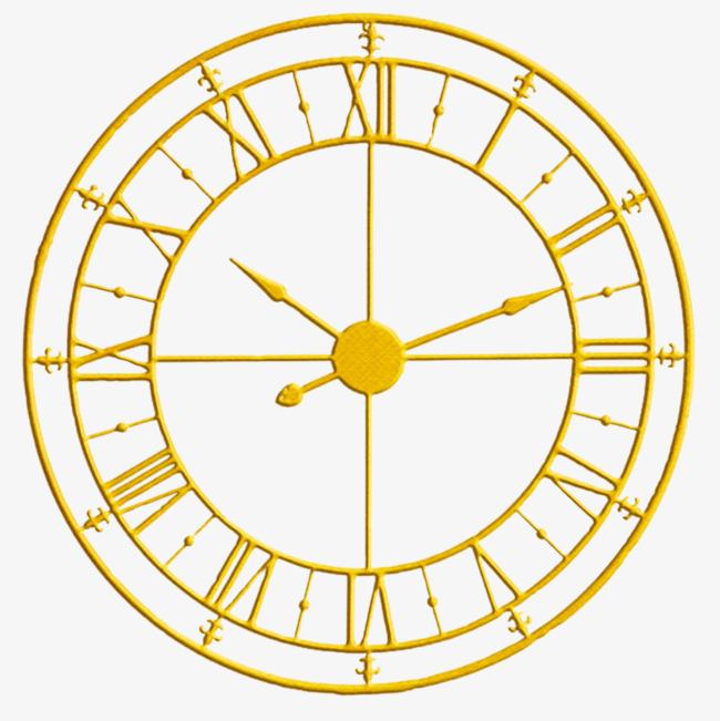 金色罗马数字钟表