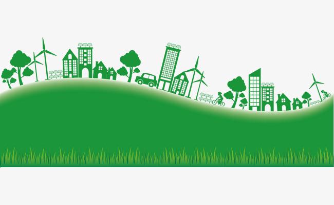 矢量图手绘绿色家园