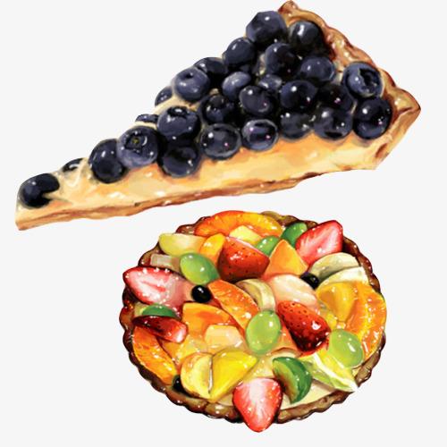 水果饼手绘画素材图片
