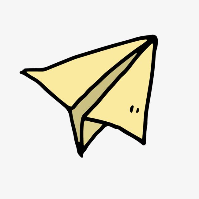 矢量手绘纸飞机素材