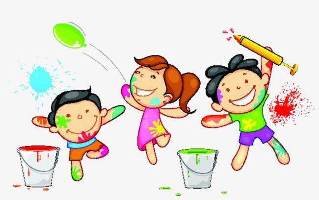 幼兒房間玩耍圖片手繪