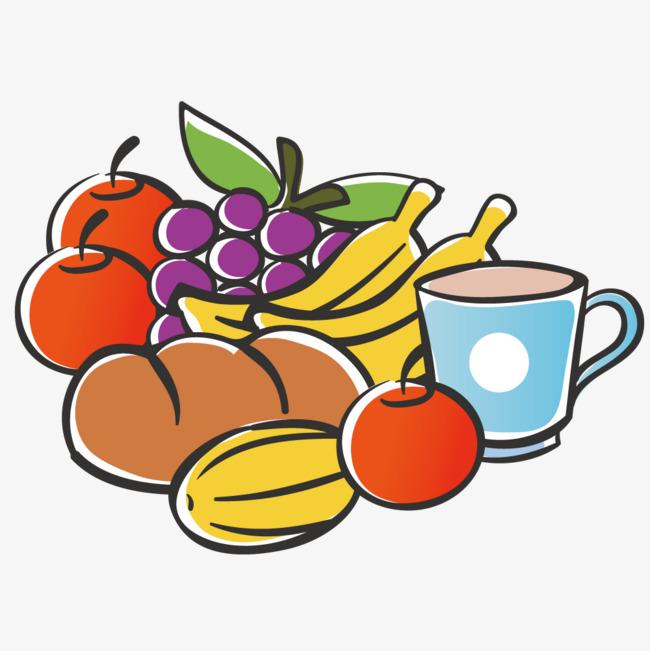 水果面包组合图片