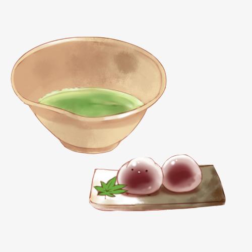 汤圆手绘画素材图片紫薯汤圆面汤大碗盘子手绘美食糯米元宵-汤圆手