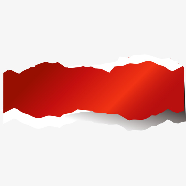 手绘红色飘带png素材-90设计