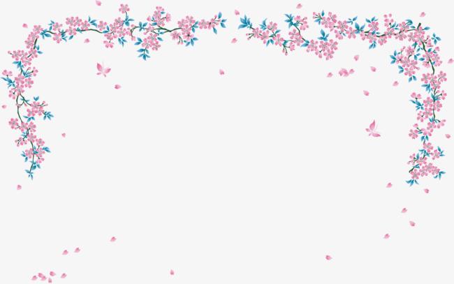 矢量手绘花藤边框