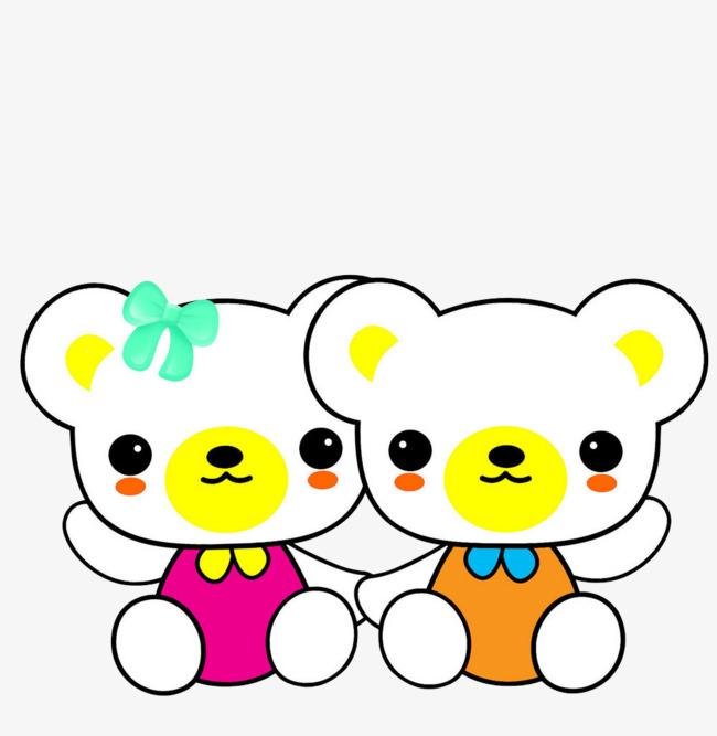 两只卡通可爱小熊玩偶1