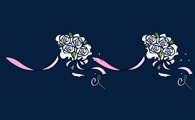 手绘简约花朵装饰